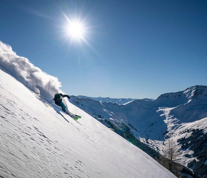 Freerider in the deep snow