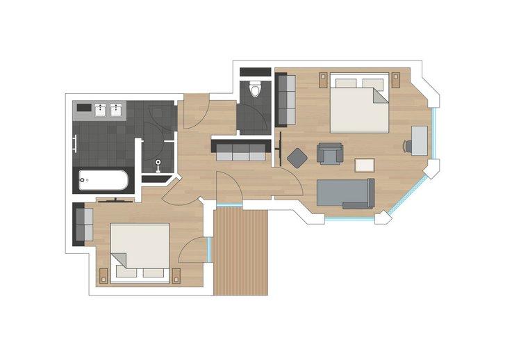 Family suite Genusszeit sketch