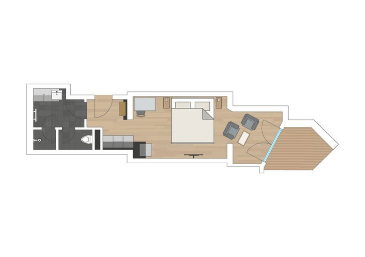 Junior suite Traumzeit sketch