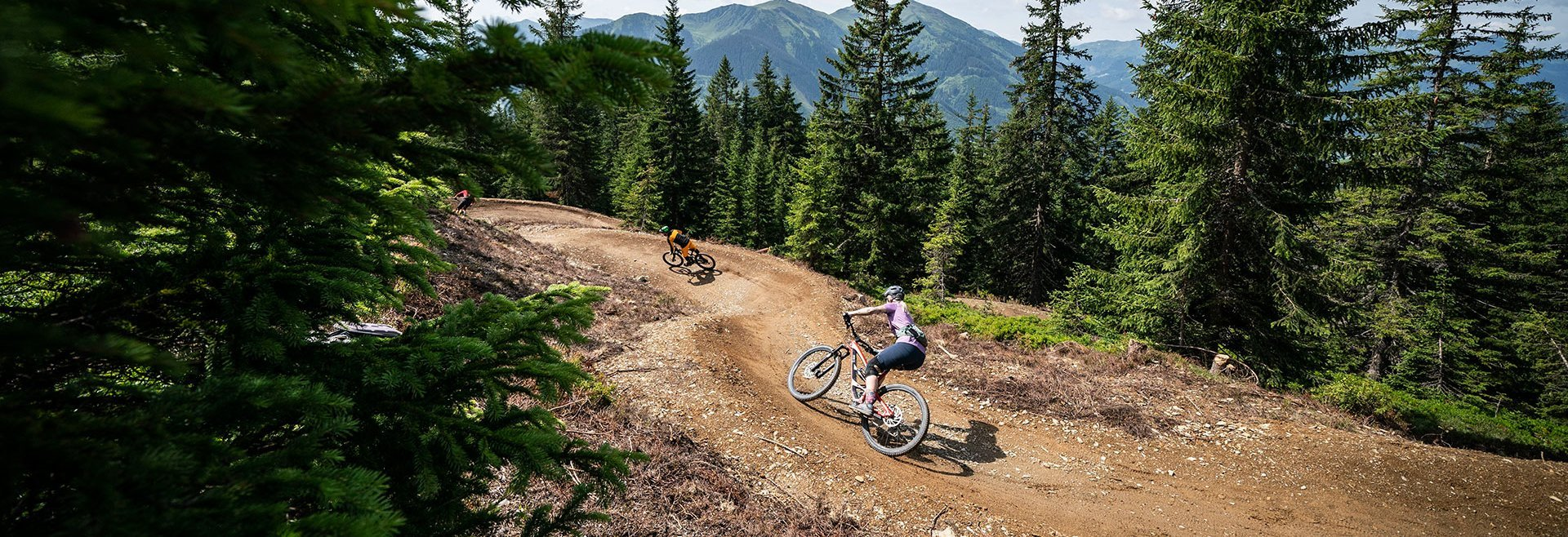 Mountain biker out and about in Saalbach Hinterglemm